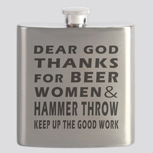 Beer Women And Hammer throw Flask